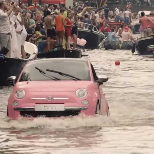 Fiat 500 loves Pink