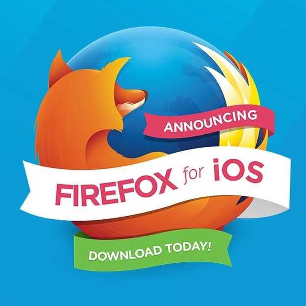 Firefox voor iOS nu beschikbaar