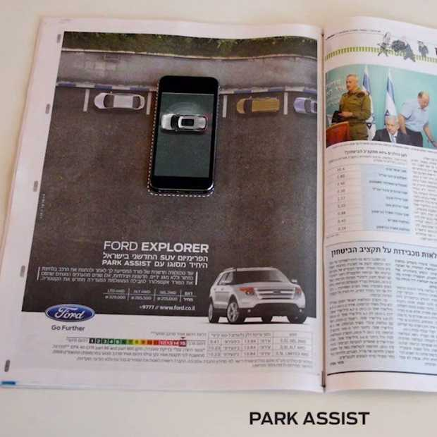Ford Explorer, fraai staaltje mobile marketing met interactieve print advertenties