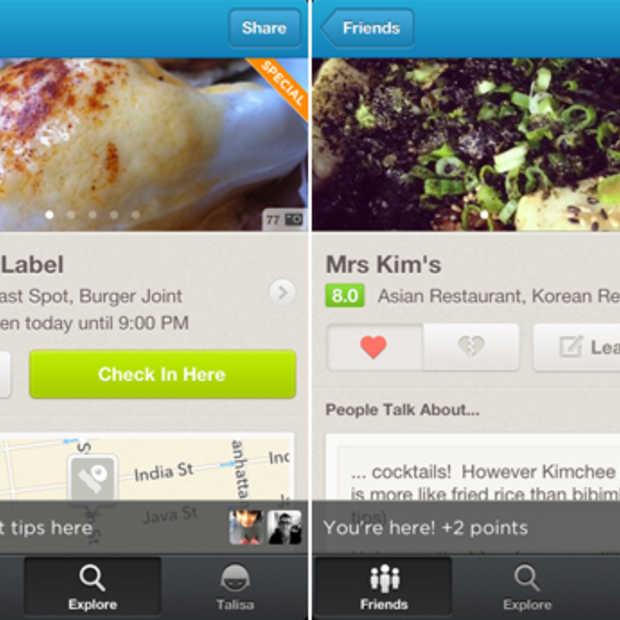 Foursquare komt met nieuwe update voor de iPhone