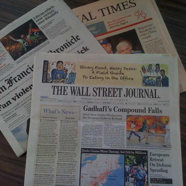 Gedrukte Amerikaanse krant heeft nog 6 jaar