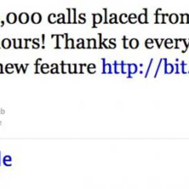 Gmail gebruikers bellen 1 miljoen keer in 24 uur