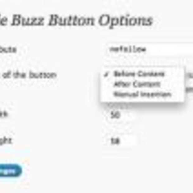 Google Buzz plugins voor Wordpress