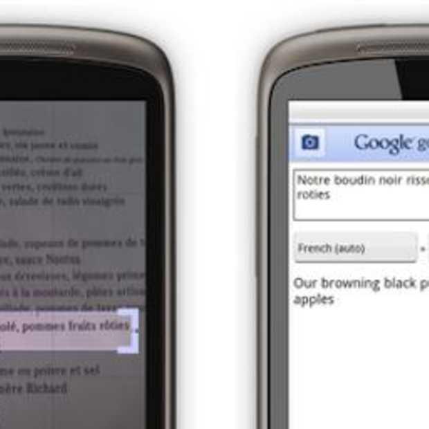 Google Goggle vertaalt nu ook tekst vanuit een foto