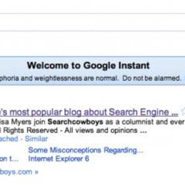 Google Instant, wat betekent het voor uw website?