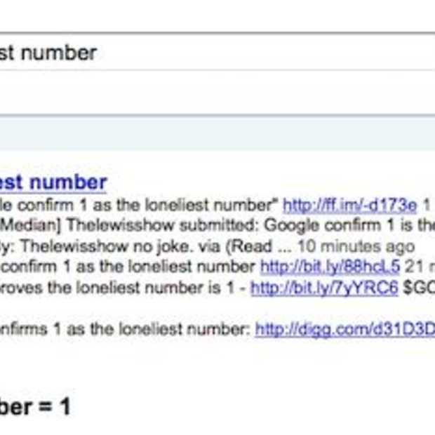 Google loneliest number = 1