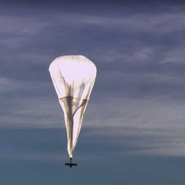 De internetballonnen van Google gaan volgend jaar de lucht in