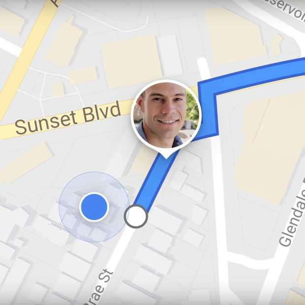 Je kunt binnenkort real time je locatie delen via Google Maps