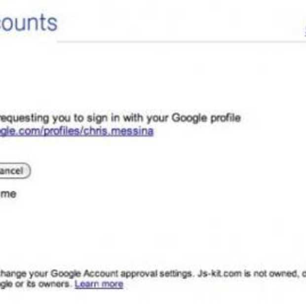 Google profielen worden OpenID's