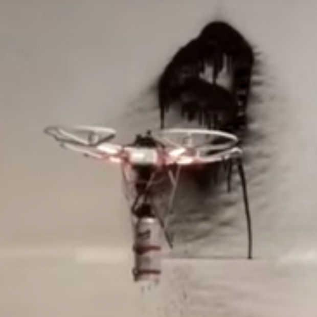 Oei: drone geprogrammeerd om semi-autonoom graffiti te spuiten