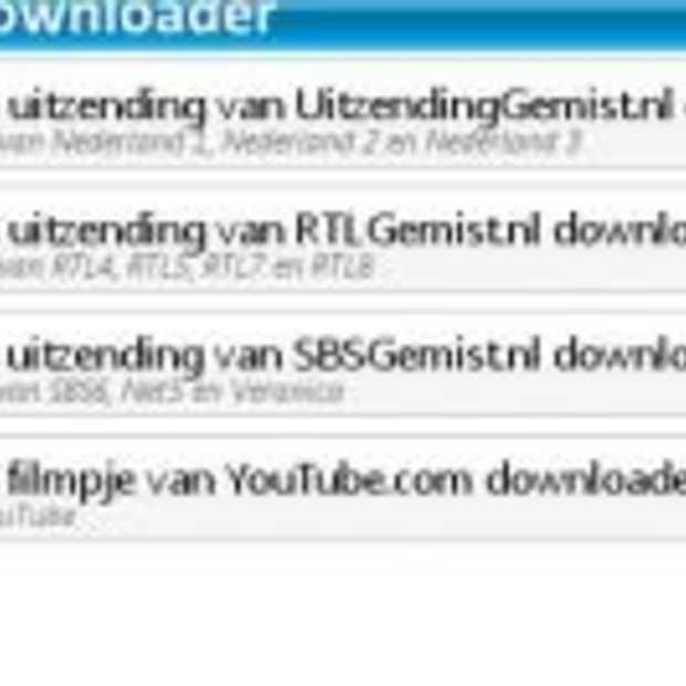 Gratis Uitzending Gemist downloader