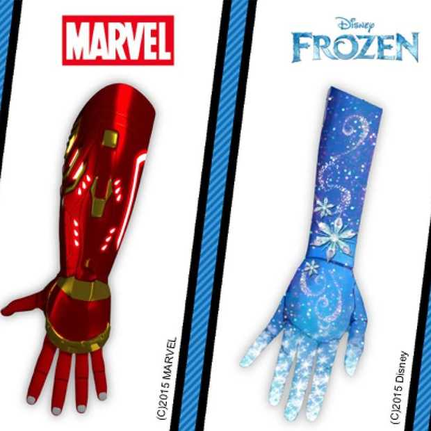 3D-geprinte prothetische arm van Iron Man, Star Wars of Frozen