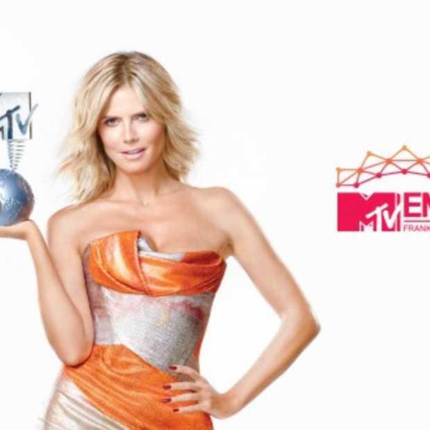 Heidi Klum houdt fans via Twitter op de hoogte van ontwikkelingen MTV EMA
