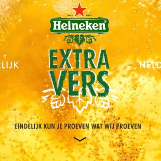 Heineken Extra Vers, vers verpakt bier met een hoog broodje aap-gehalte