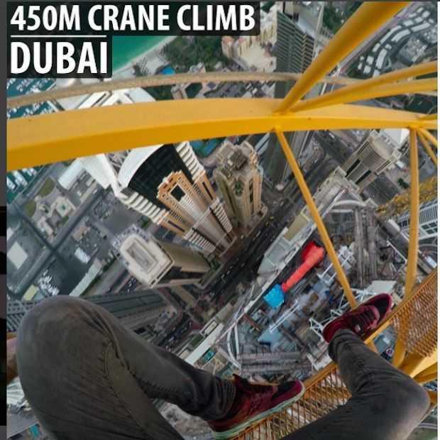 YouTuber James Kingston beklimt een van de hoogste gebouwen ter wereld