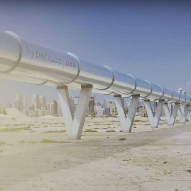 Hyperloop One: 160 kilometer afleggen in 12 minuten