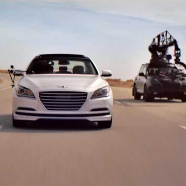 Hyundai stunt met auto's zonder bestuurder