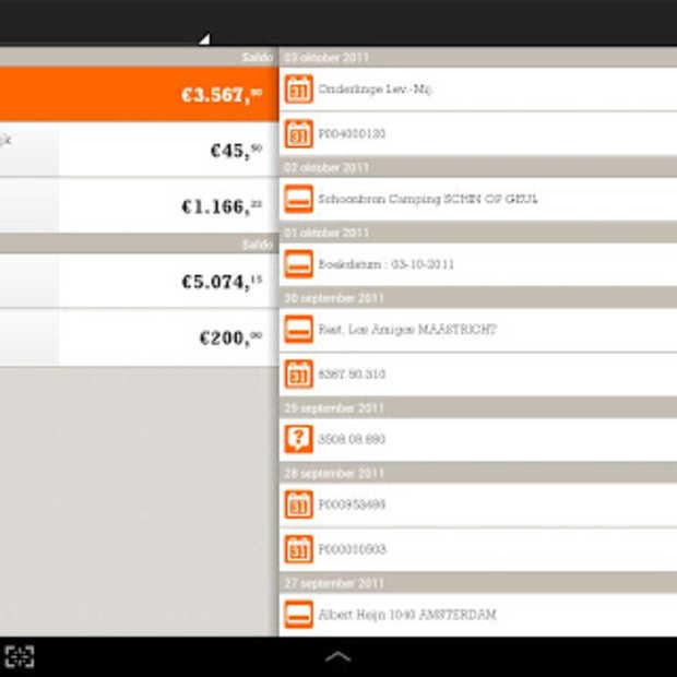 ING komt met Mobiel Bankieren App voor Android Tablet