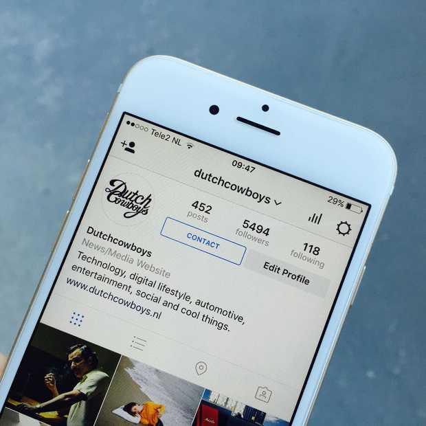 Instagram heeft nu bedrijfsprofielen