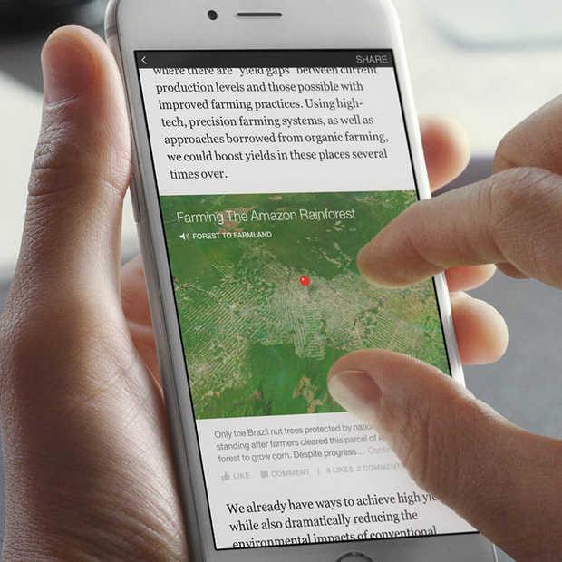 Facebook Instant Articles nu beschikbaar voor iPhone