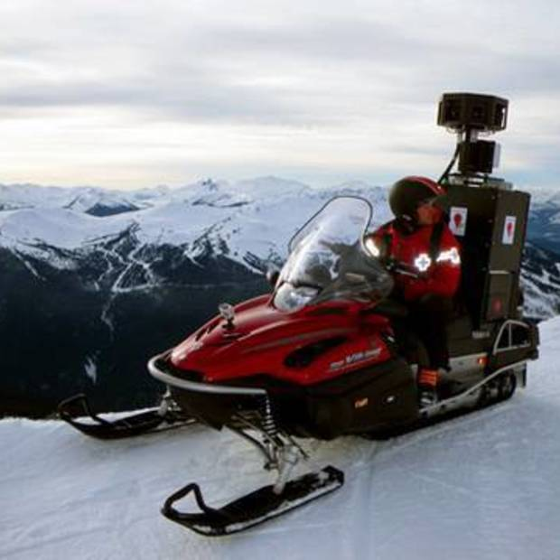 Google Street View snowmobile [Video]