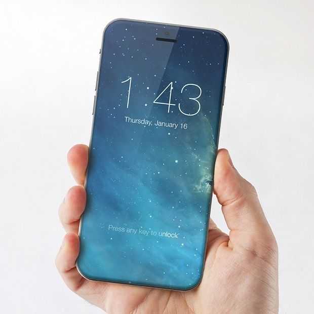 iPhone 7 concept: scherm zonder randen en verwisselbare achterkantjes