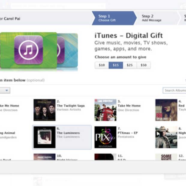 iTunes-bonnen nu ook verkrijgbaar via Facebook Gifts