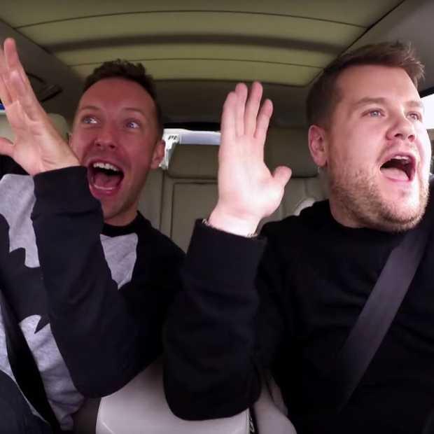 Hilarische James Cordon Carpool Karaoke met Chris Martin