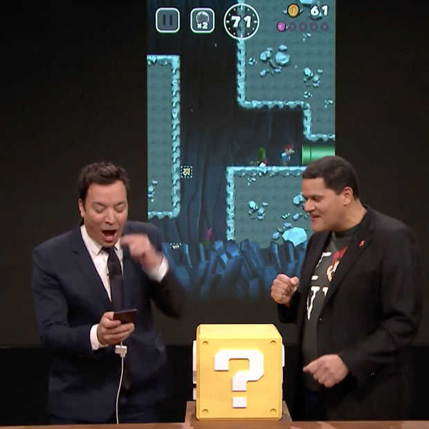 Nintendo toont Super Mario Run en Switch-console bij Jimmy Fallon