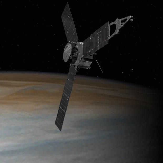 Ruimtesonde Juno succesvol in baan rond Jupiter