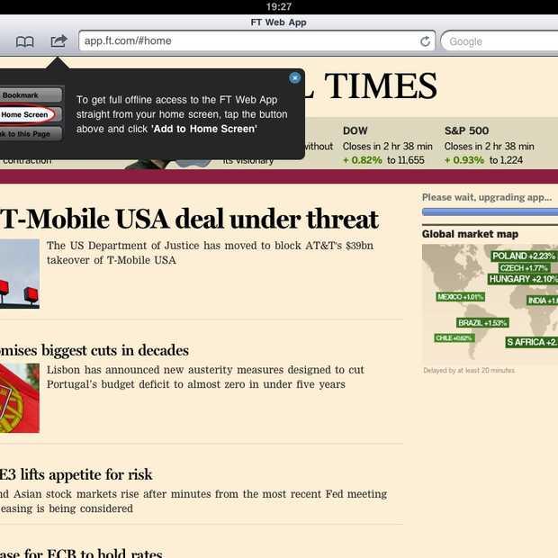 Kan HTML5 een iPad App vervangen?