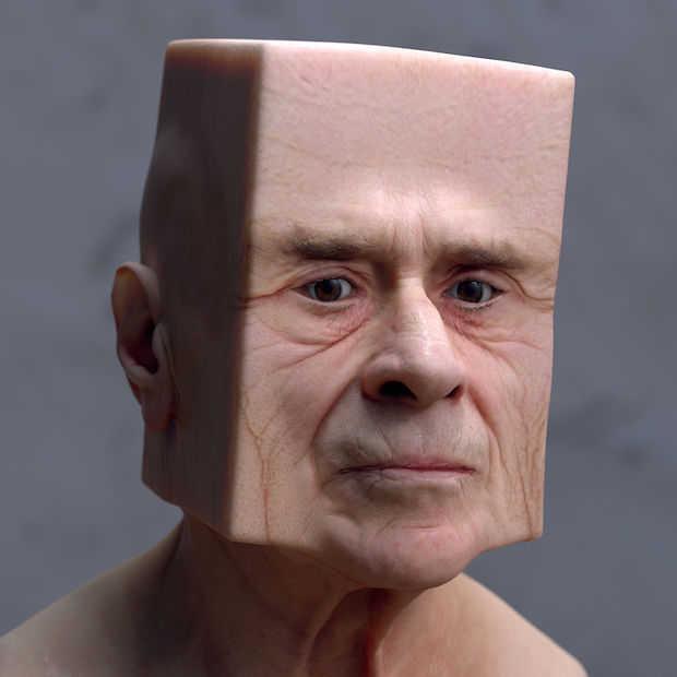 Kunstenaar met 3D software