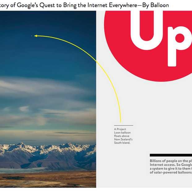 Leuk artikel over Google's Project Loon