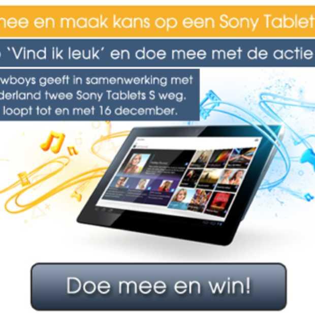 Like-actie op Facebook: maak kans op een van de twee Sony Tablets S
