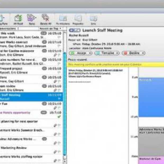 Mac gebruikers staat Outlook versie te wachten
