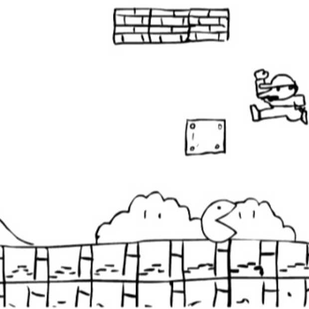 Mario en Pac-man in de clinch