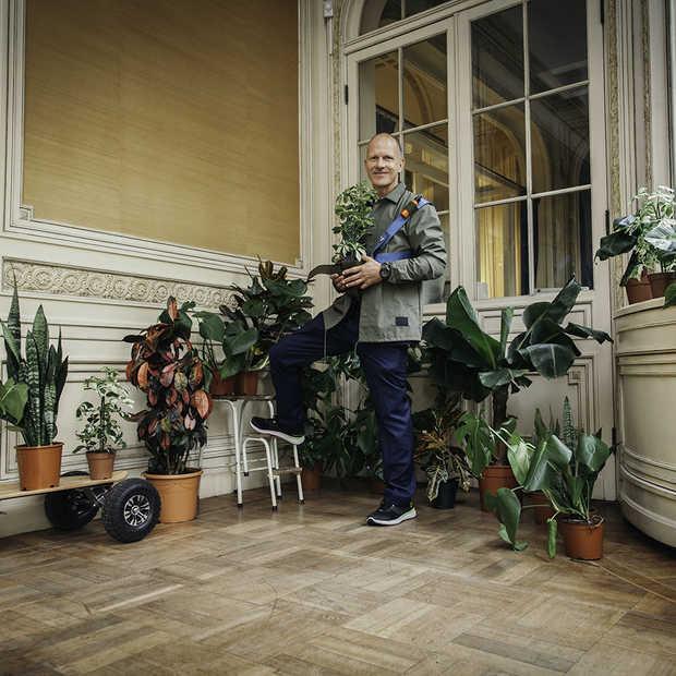 Maxim Hartman op vrouwenjacht met een bananenplant