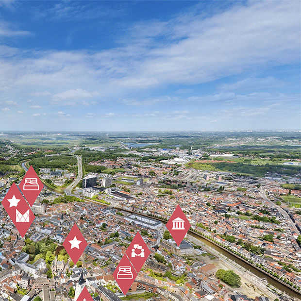Mechelen te bezoeken in Virtual Reality