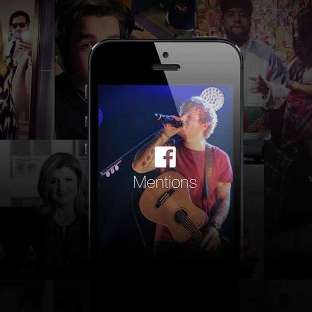 Facebook Mentions App voor iPhone