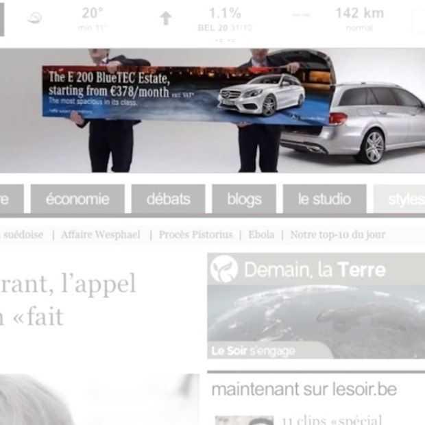 Mercedes-Benz introduceert de mobiele banner