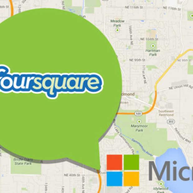 Microsoft gaat Foursquare data en technologie gebruiken voor Bing en Windows