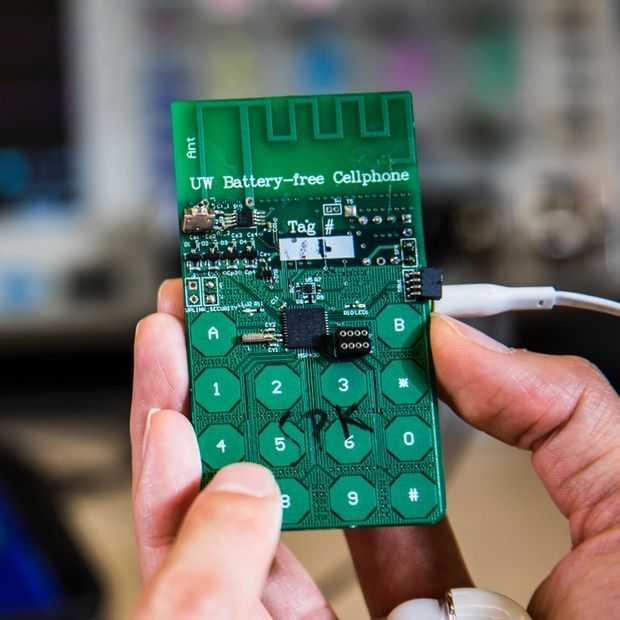 Wetenschappers hebben prototype telefoon zonder accu gemaakt
