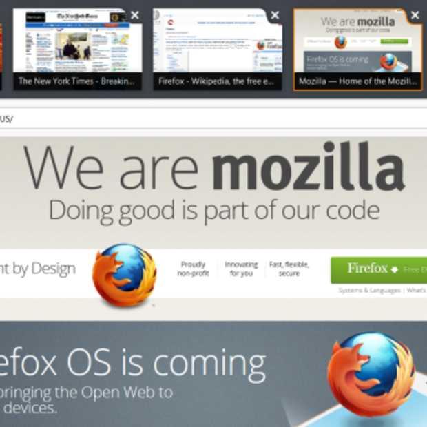 Mozilla past Metro-stijl toe in nieuwe versie Firefox