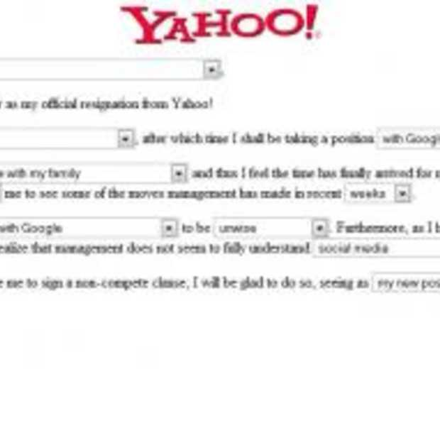 My official resignation from Yahoo!