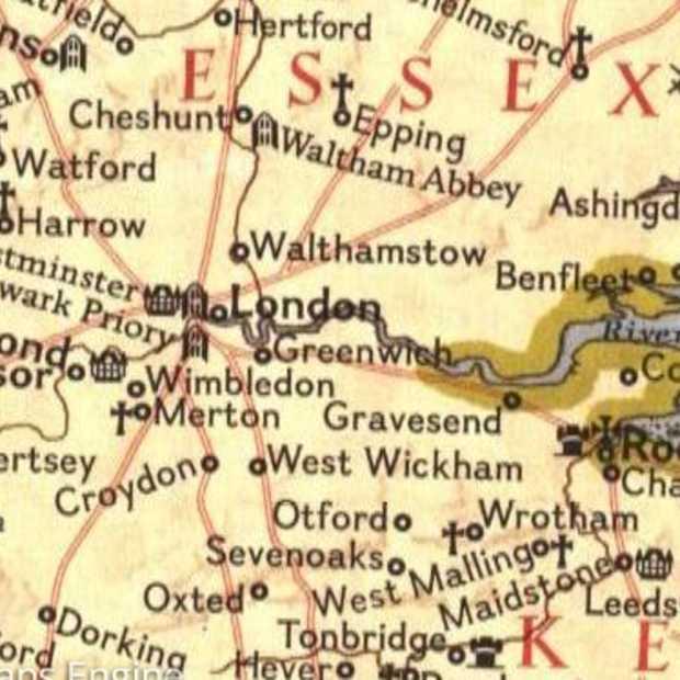 """National Geographic maakt oude kaarten beschikbaar als """"layer"""" in Google Maps"""