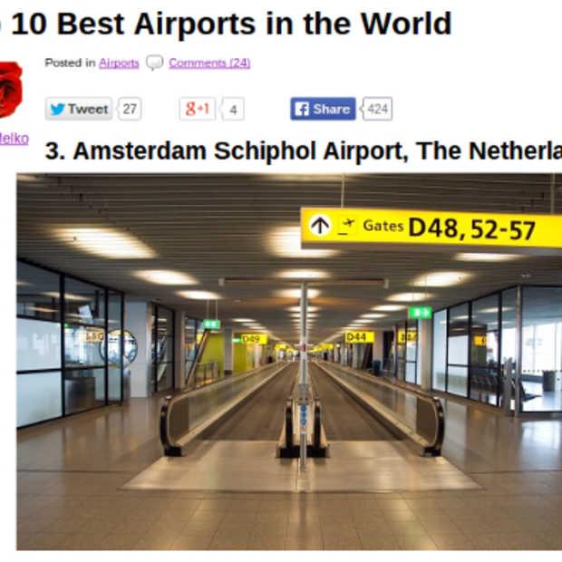 Nationale Trots: Schiphol verkozen tot derde luchthaven van de wereld