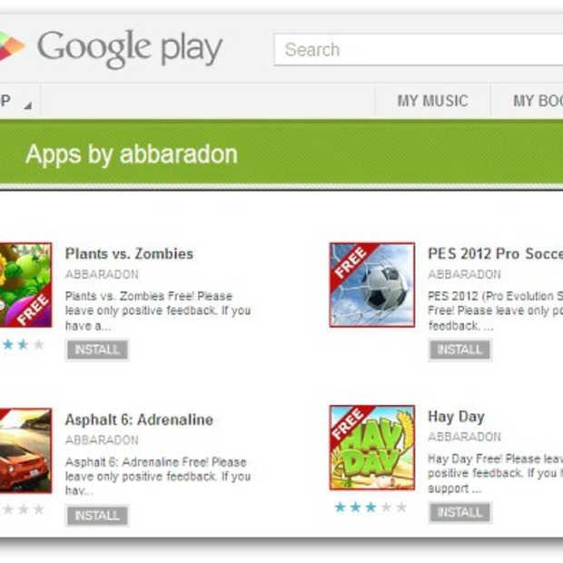 Nep versie 'Plants vs Zombies' en andere Android games infiltreren de Google Play store