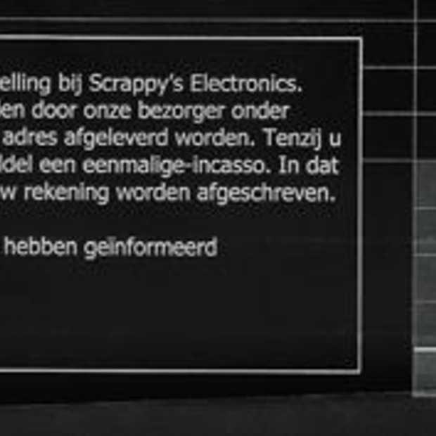 Nepfactuur Scrappy Electronic's circuleert per post