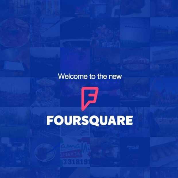 Dit is hem dan, de nieuwe Foursquare App