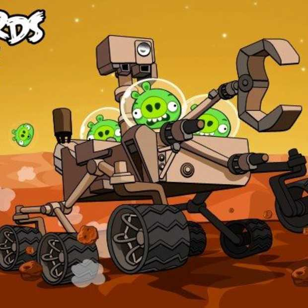 Nieuwe Angry Birds Space episode bevat NASA's Curiosity Rover